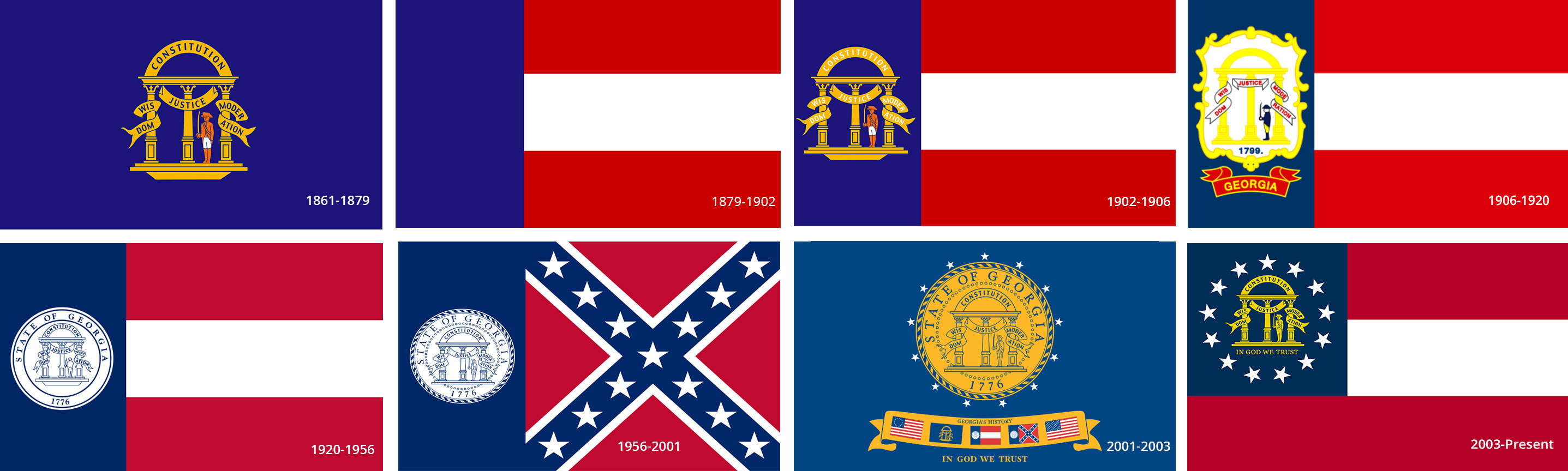 Georgia State Flags History