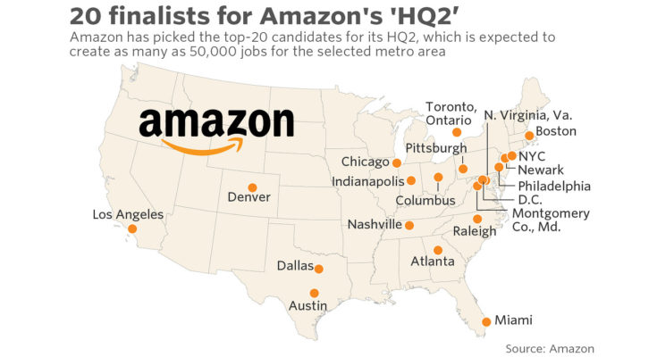Amazon 20 Finalist Map
