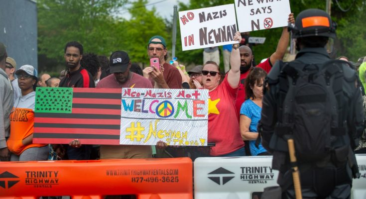 Georgia police invoke law made for KKK to arrest anti-racism protesters