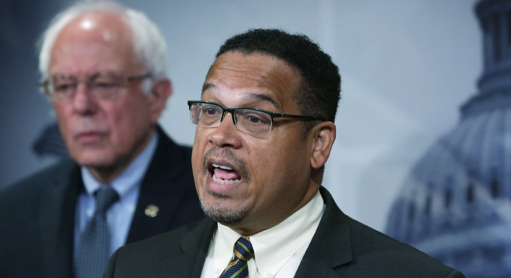 Keith Ellison and Bernie Sanders