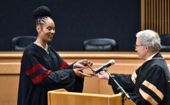 Gwinnett swears in county's first elected black judge