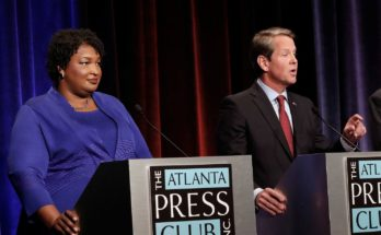 Stacey Abrams and Brian Kemp