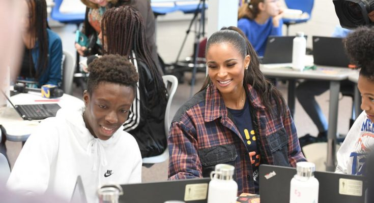 Ciara with Paul Duke STEM High School students