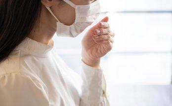 woman breathing mask