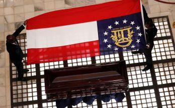 ga state confederate flag ct vivian casket
