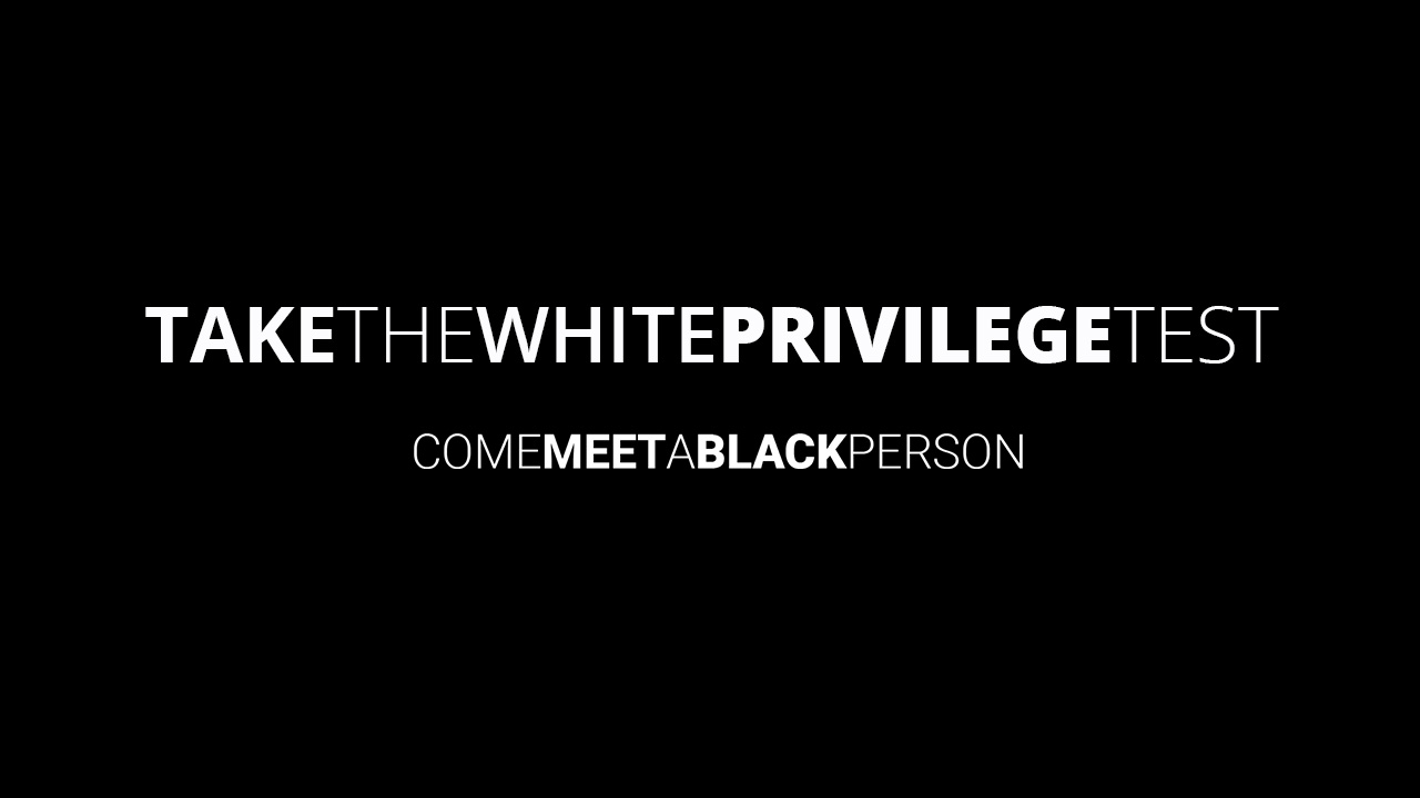 take the white privilege test