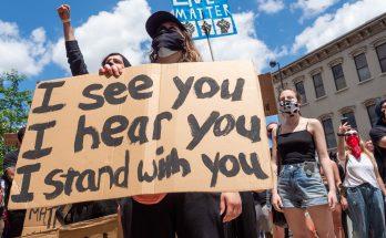 white protesters